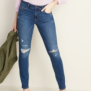 Mid-Rise Distressed Pop Icon Skinny Jeans Size 10